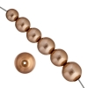 Czech Glass Pearls 8In Strand Combo 10-16mm (13pcs)rose Gold